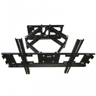 پایه دیواری تلویزیون مدل w6 دو بازو متحرک سایز 55 تا 85 اینچ