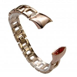 بند فلزی مدل  Diamond مناسب مچ بند هوشمند هانر مدل Honor Band 4/5