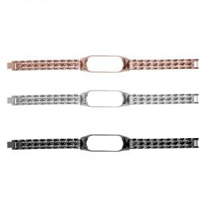 بند فلزی نگین دار مدل Diamond-1 مناسب برای مچ بند هوشمند شیائومی Mi Band 5 / 6