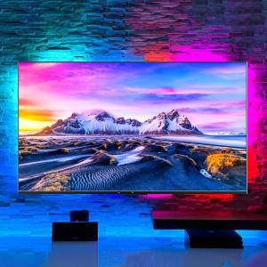 """تلویزیون هوشمند شیائومی """"Mi TV P1 55 گلوبال مدل L55M6-6AEU به همراه نورپردازی ریسه ای Yeelight 1S RGB"""