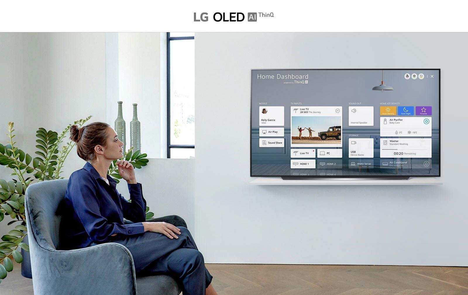 قابلیت های هوشمند تلویزیون 55 اینچ ال جی مدل CX