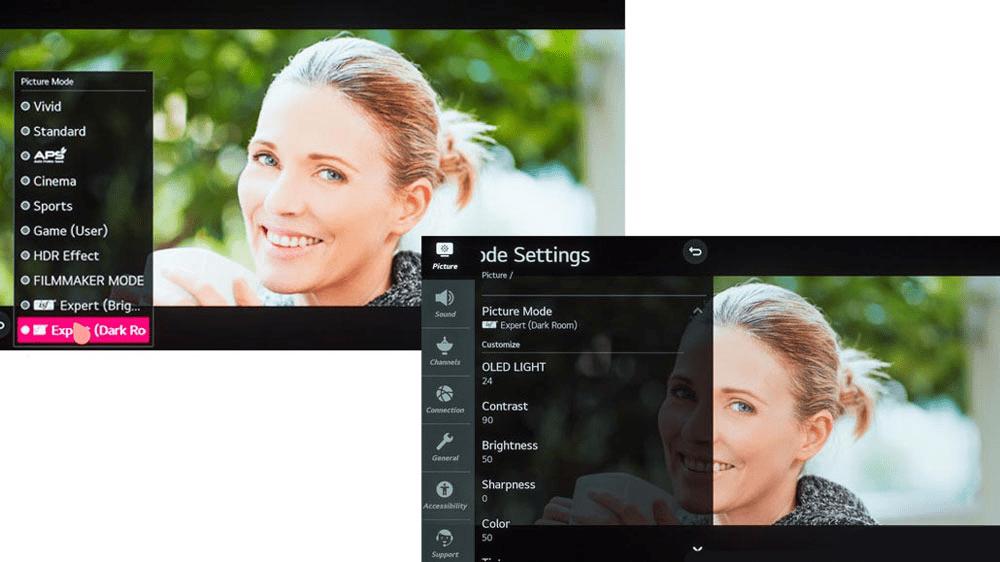 تنظیمات SDR تلویزیون 55 اینچ ال جی مدل CX