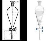 دکانتور مخروطی شیر شیشه ای 1000