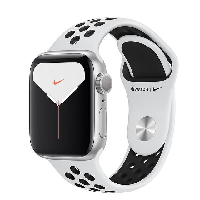 ساعت هوشمند اپل واچ سری 5 مدل 40mm Aluminum Case With Nike Sport Band