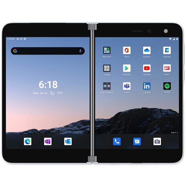 گوشی موبایل مایکروسافت مدل Surface Dou تک سیم کارت ظرفیت 256 گیگابایت و رم 6 گیگابایت