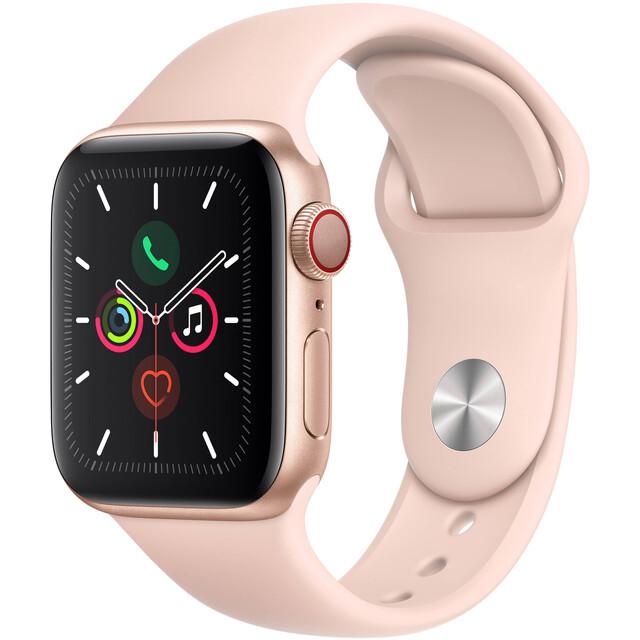 ساعت هوشمند اپل واچ سری 5 سلولار مدل 40mm Aluminum Case With Pink Sport Band