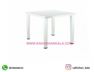 میز 4 نفره مربع با چهارپایه لوله ای پلاستیکی کد R823