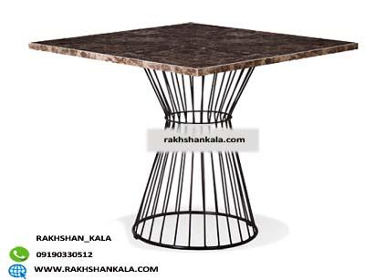 میز طرح سنگ با پایه برتویا