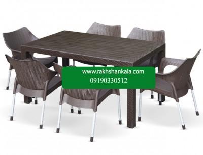 ست میز و صندلی شش نفره monoka