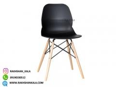 صندلی بدون دسته کندو با پایه چوبی