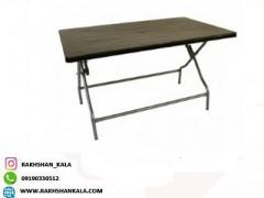 میز 6 نفره مستطیل تاشو با پایه فلزی