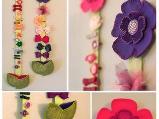آویز گیره سر نمدی / felt hair clip holder