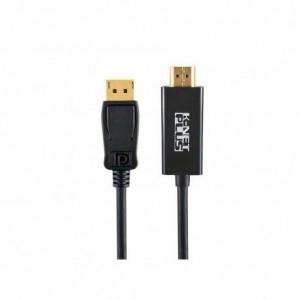مبدل Displayport به HDMI کی نت پلاس KP-C2105 طول 1.8 متر