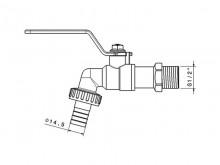 طراحی شیر شیلنگی تک ضرب - شیرآلات ریابی