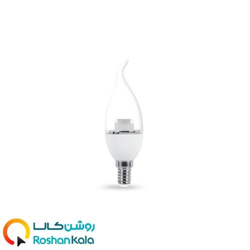 لامپ LED اشکی 5 وات شفاف پارس شعاع توس