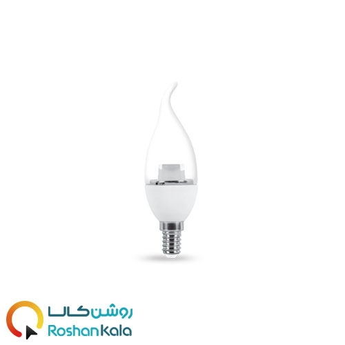 لامپ LED اشکی ۶ وات شفاف پارس شعاع توس