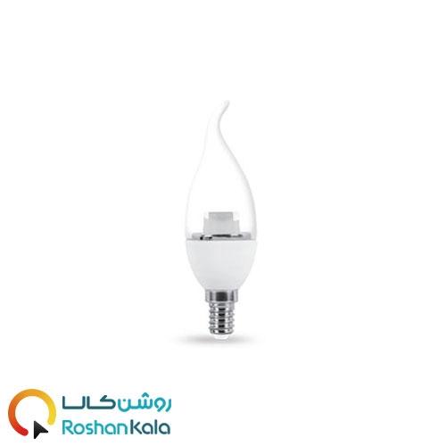 لامپ LED اشکی ۷ وات شفاف پارس شعاع توس