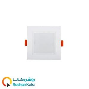 چراغ توکار سولاریس ۷ وات مربعی پارس شعاع توس