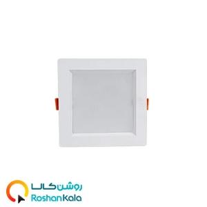 چراغ توکار سولاریس ۱۲ وات مربعی پارس شعاع توس