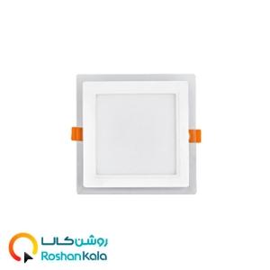 چراغ توکار گلاریس ۱۲ وات مربعی پارس شعاع توس