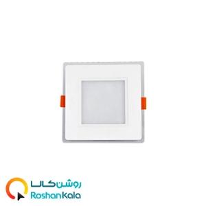 چراغ توکار گلاریس ۹ وات مربعی پارس شعاع توس