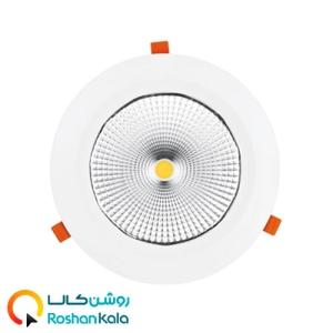چراغ توکار هارمونیک ۸۰ وات دایره ای پارس شعاع توس