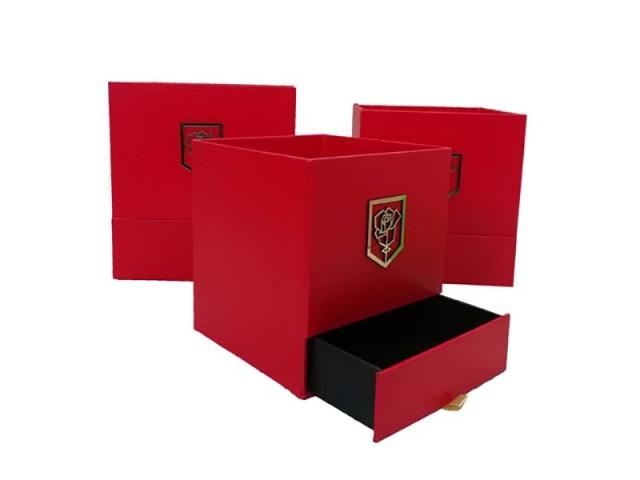 جعبه مربع کشودار پوست ماری3تکه مدل 1437
