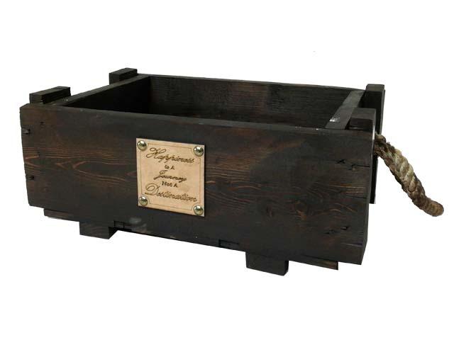 جعبه  چوبی مستطیل قهوه ای مدل 1473