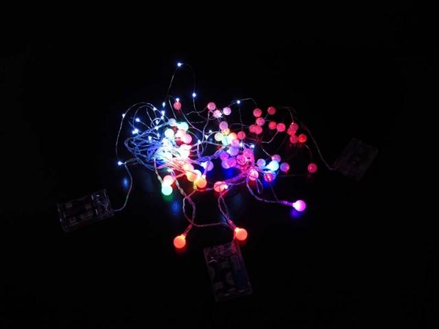 ریسه LED بزرگ چشمکزن باطری مدل 0103