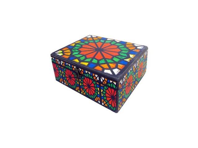 جعبه چوبی طرح دار مدل 0415