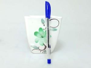گلدان سرامیک چهارگوش لیوانی گلدار مدل 2138