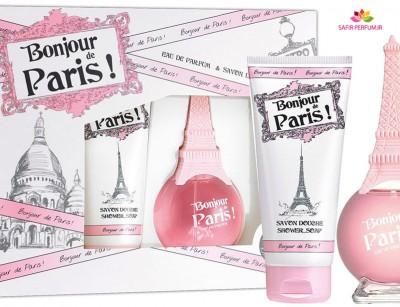 ست عطر و ادکلن زنانه بونژو د پاریس برند آرنو سورل  (  ARNO SOREL  -  BONJOUR DE PARIS SET  )