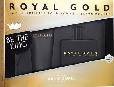 ست عطر و ادکلن مردانه رویال گلد برند آرنو سورل  (  ARNO SOREL  -  ROYAL GOLD SET   )