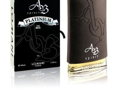 عطر مردانه ای بی اسپیریت پلاتینیوم  برند لومانی  (  LOMANI  -    AB SPIRIT PLATINUM    )