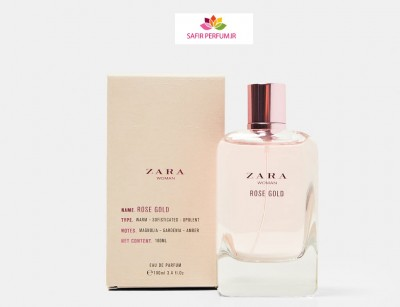 عطر و ادکلن زنانه رز گلد برند زارا   (  ZARA  -  ROSE GOLD    )