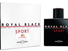 عطر و ادکلن مردانه رویال بلک اسپرت برند آرنو سورل  (  ARNO SOREL  -  ROYAL BLACK SPORT   )