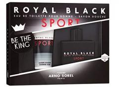 ست عطر و ادکلن مردانه رویال بلک اسپرت برند آرنو سورل  (  ARNO SOREL  -  ROYAL BLACK SPORT SET    )