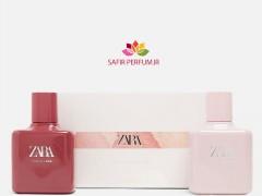 ست زنانه عطر و ادکلن تیوب رز - پینک فلومب برند زارا  (   ZARA   -  TUBEROSE - PINK FLAMBE  SET   )
