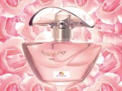 عطر و ادکلن زنانه  رز ولی برند پاریس بلو  (  PARIS BLEU  -   ROSE VALLEY     )