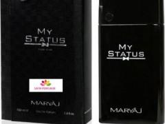 عطر و ادکلن مردانه مای استتوس برند مریاژ (  MARYAJ   -  MY STATUS   )