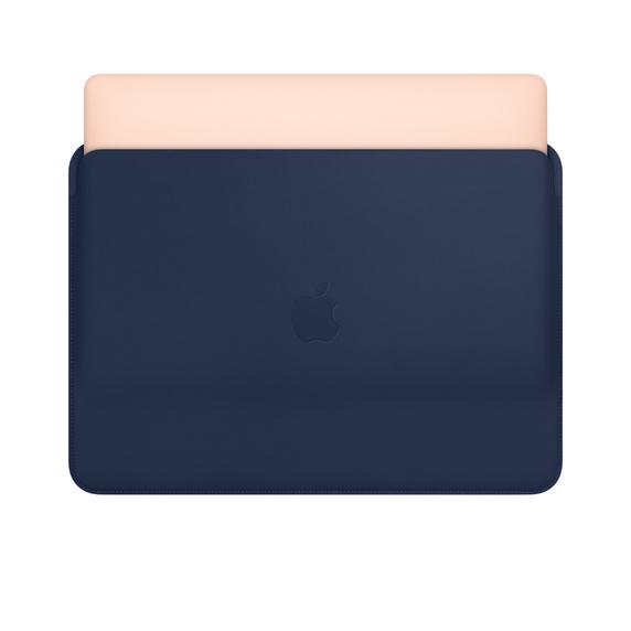 کاور چرمی مک بوک  ایر و پرو -  آبی - Leather Sleeve for 13-inch MacBook Air and MacBook Pro - Midnight Blue