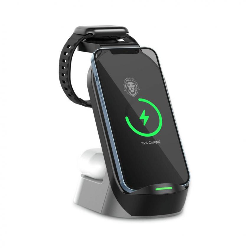 وایرلس شارژر رو میزی 15W - مدل 4in1 - گرین لاین