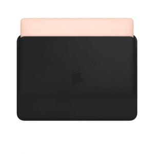 کاور چرمی  مک بوک ایر و پرو - مشکی - Leather Sleeve for 13-inch MacBook Air and MacBook Pro - Black