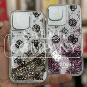 قاب آیفون 13 , 13 پرو - Guess - مدل Liquid Glitter