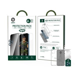 پک قاب و گلس 360 درجه آیفون 12پرو / 12 پرو مکس - Protection Pack - گرین لاین