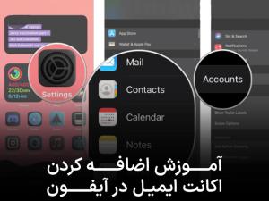 آموزش اضافه کردن اکانت ایمیل در آیفون و آیپد