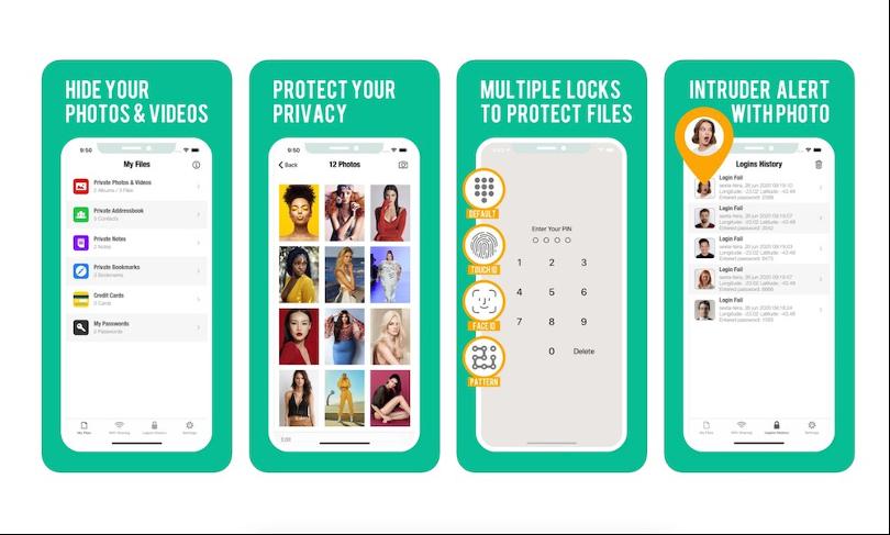 مخفی کردن عکس با Secure Folder Pro