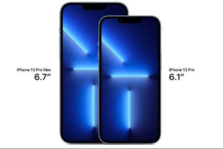 مقایسه سایز صفحه نمایش آیفون ۱۳ پرو مکس با آیفون ۱۳ پرو
