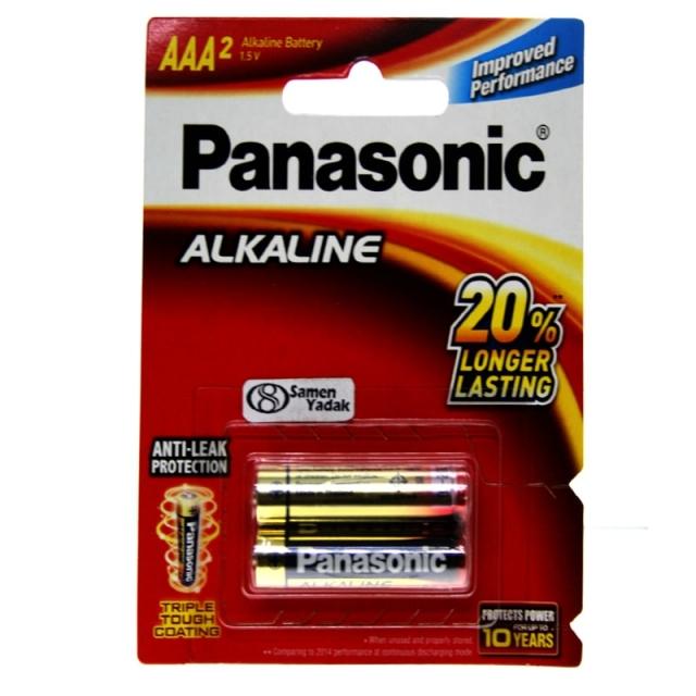 باطری نیم قلمی پاناسونیک آلکالاین AAA (بسته دو عددی)