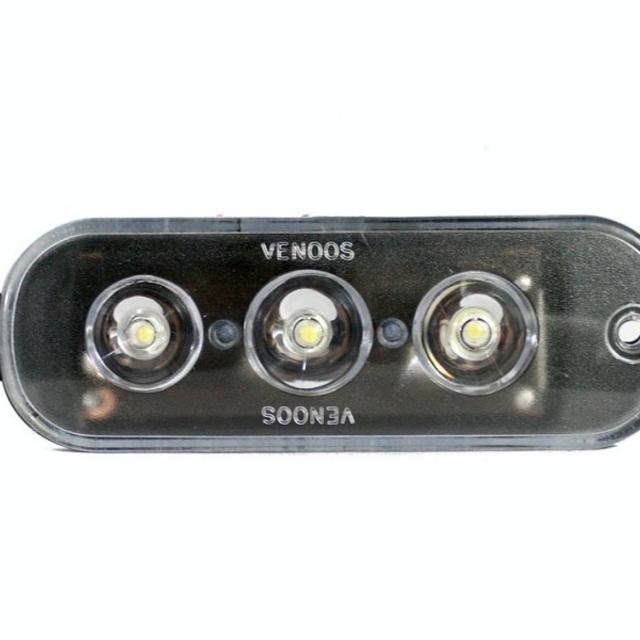 چراغ LED داخل سپر پراید 3 تایی سفید